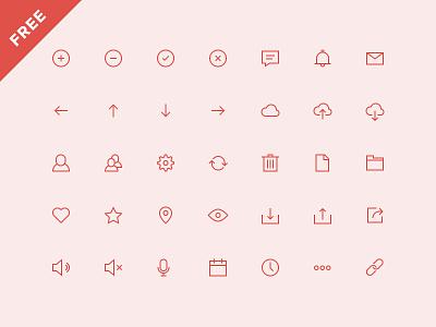 UI Icons (Free) ui icons iconset flat user interface free outline