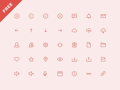 UI Icons (Free) ui icons iconset flat user interface free outline
