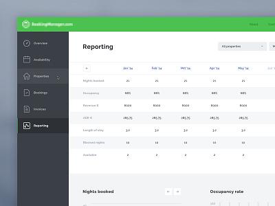 Booking App - Desktop version booking app desktop version flat ui dashboard reporting