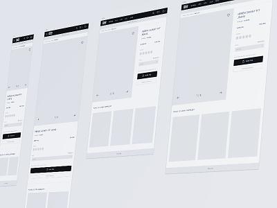 Responsive wireframe wireframe interaction design ux responsive flat webshop desktop tablet mobile