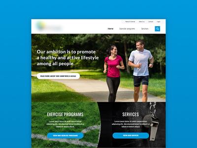 New webdesign sport organisation ui ux design homepage website sport
