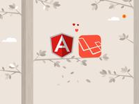 Angular <3 Laravel Illustration