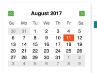 Calendar popup