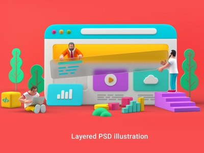 Webdesign UI UX website 3D illustration 3d ux design ux ui  ux uiux uidesign ui design concept vector illustration flat web page agency app 3d character 3d art 3d illustration conceptual 3d animation