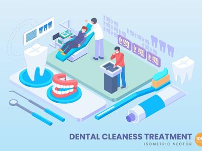 3D Dental Cleaness Treatment Concept development web design website process landing page business technology flat illustration web page agency app 3d character 3d art 3d illustration concept conceptual 3d animation 3d