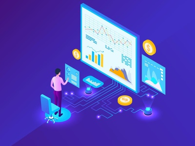 Marketing Analysis Isometric Concept app page 3d art 3d animation 3d illustration graph chart services company business agency seo optimization enine search concept isometric analysis marketing illustration