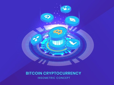 Cryptocurrency - Insometric Vector development website landing page business concept vector flat web web page agency ui logo design 3d character app 3d art page 3d animation illustration 3d illustration