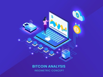 Bitcoin Analysis - Insometric Vector business concept vector flat website webpage web agency animations animation ui logo design 3d character app page 3d art 3d animation illustration 3d illustration
