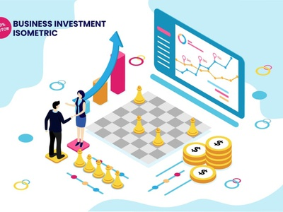 Isometric Business Investment Vector Illustration page 3d art 3d animation 3d illustration illustration infographic vector isometric corporate growth analysis finance capital vecntur incubation seed money funding investment business