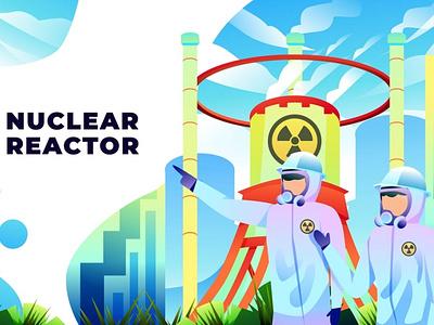 Nuclear Reactor - Vector Illustration 3d animation design app 3d art 3d animation 3d illustration illustration ux ui concept web development web design website web landing pages pages page landing page landing