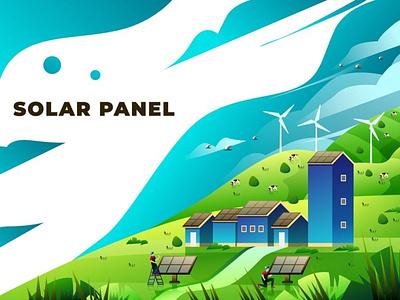 Solar Panel - Vector Illustration app 3d art 3d animation 3d illustration illustration user interface ux ui banners banner concept web development web design website web pages page landing pages landing page landing