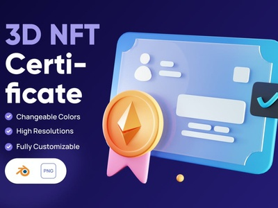 3D NFT Certificate Icon design concept app 3d art illustration illustrations icons icon 3d icon crypto nft money cryptocurrency currency business finance graphics graphic asset 3d