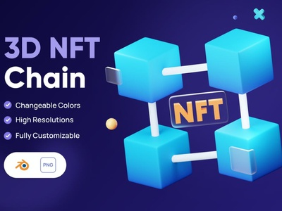 3D NFT Chain Icon design concept app 3d animation 3d illustration illustration icon icons icon design business finance money cryptocurrency crypto market art nft 3d icons 3d icon 3d