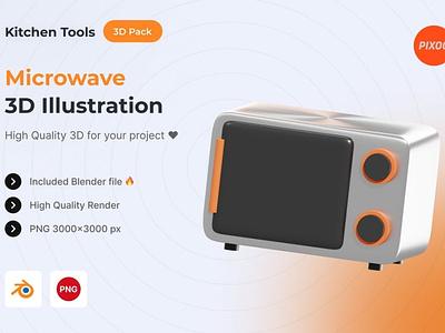 Microwave 3D Kitchen Object motion graphics ui logo design concept app 3d animation 3d art page 3d illustration illustration icons design icon design icons icon 3d icons 3d icon 3d kitchen microwave