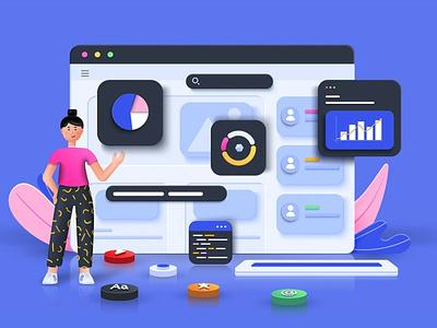 Seo Optimization 3D Concept logo design concept app uiux ux ui 3d interface business banner technology application online illustration user interface web development web design website web