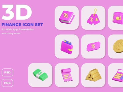 Finance and Payment 3D Icon Set ui website header header banners landing page banner icon illustration icons icon design icon process strategy application app concept 3d illustrations 3d illustration 3d payment finance