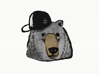 Cool Bear bear björn ursine procreate illustration