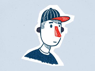 Blue characterdesign portrait illustration sketch procreate
