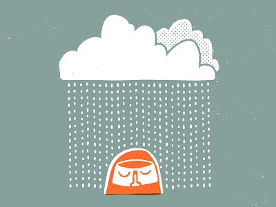 I'm ok with rainy days and Mondays jacket raindrops rain illustration
