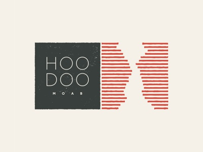 Hoodoo Moab Identity utah jazz red rock orange logo hotel utah moab hoodoo