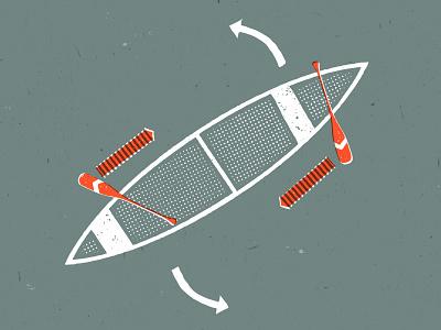 Turn, turn, turn texture orange outdoors vector illustration canoeing canoe