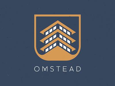 OMSTEAD Montana Identity blue identity montana pagoda yoga omstead logo