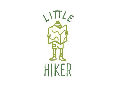 Little Hiker hiking sketch logo