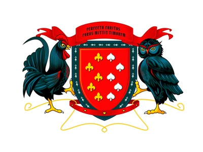 Family Crest crest logo coatofarms crest heraldry illustration vector branding