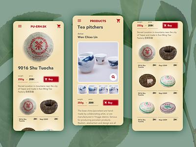 Teas webshop UI app design design app mobile sketchapp design app ui  ux ui