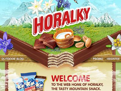 Horalky chocolate site chocolate webdesign ui