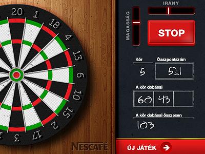 Darts game darts wood game ui