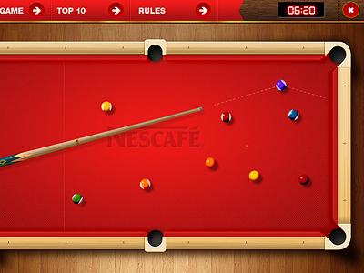 Pool game pool wood game ui