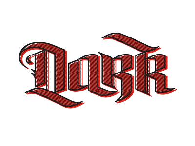Dark Typemark logotype lettermark lettering blackletter typedesign type typography branding vector logo