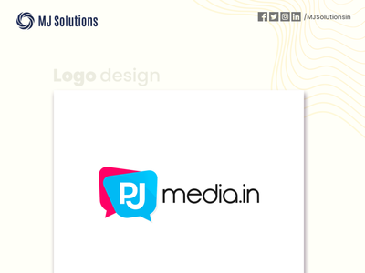 Logo Design for PJ Media mockup logo logo design design