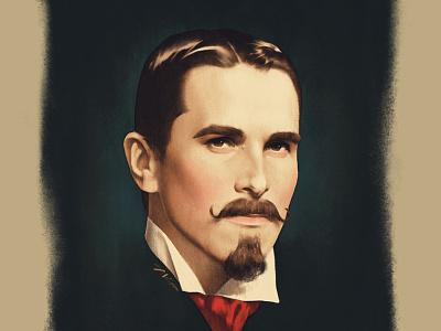 The Professor magician portrait poster vintage illustration