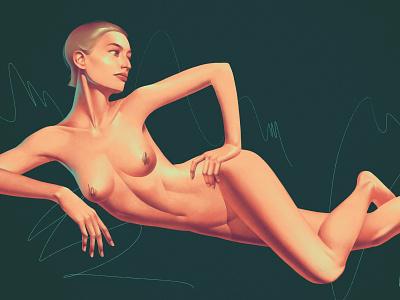Boobs the book boob poster artdeco breast nude illustration