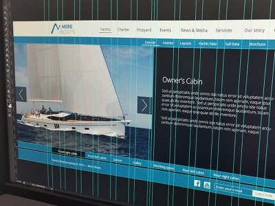More Boats — Website (WIP) work in progress sail charter yachts boats more ui ux design website web
