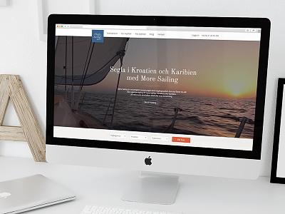 A peek at More Sailing website redesign more sailing flat design web ux ui