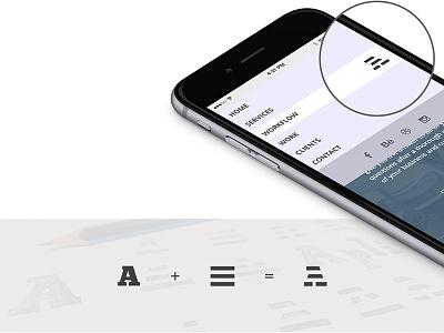 Menu icon — Amburger pattern navigation interaction design ux ui amburger hamburger close icon menu