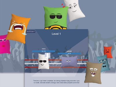 Pillow Fight | Facebook application dormeo interaction development game competition website web design ux ui application facebook