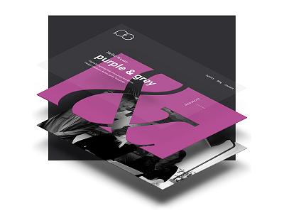 purple & grey | Website sneak peek website web ux ui typography studio design colors colorful agency