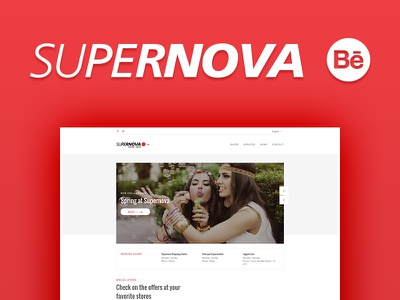 SUPERNOVA Shopping center | Case study design layout launch ux ui website study case
