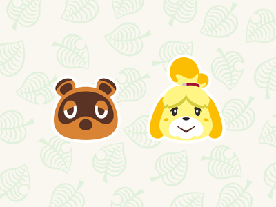 Animal Crossing Character nintendo switch game switch artwork inspiration illustrator characterdesign illustration design graphic graphicdesign type animalcrossing