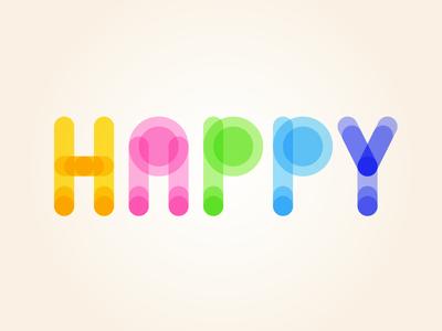 Happy - Type Design