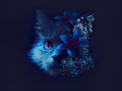 Rudlin Street identity purple illustration botanical cat logo image design illustrator
