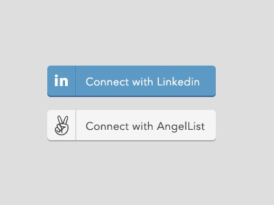 """FREE """"Connect with LinkedIn/AngelList"""" button PSD free connect linkedin angellist button psd ui avenir yay"""