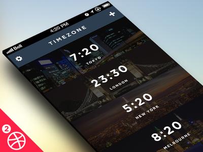 Timezone App for iOS