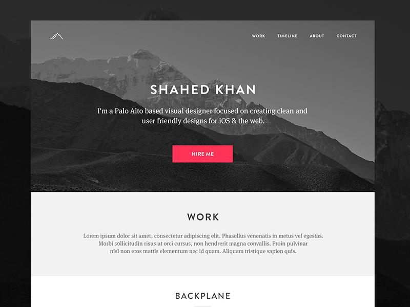 Redesigning my Personal Site v2 portfolio clean minimal personal site redesign ui web simple resume flat design