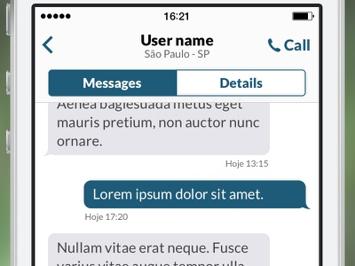 Ninja Messaging ios app chat getninjas