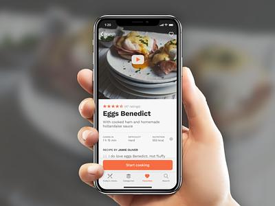 Recipes app mobile ui ui mobile app iphone x recipe page recipe